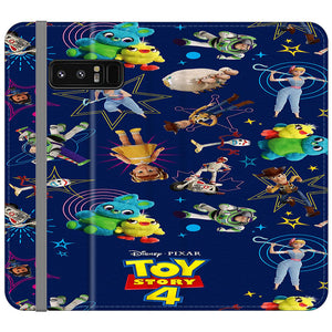 Toy Story 4 Doodle Blue Samsung Galaxy Note 8 Flip Case | Frostedcase