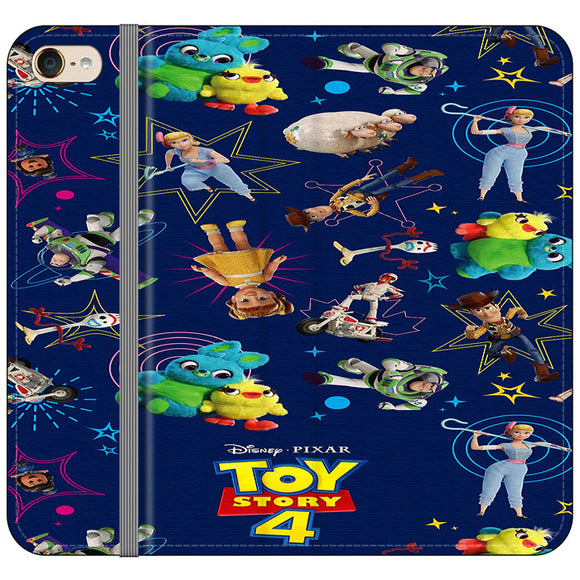 Toy Story 4 Doodle Blue iPod 6 Flip Case | Frostedcase