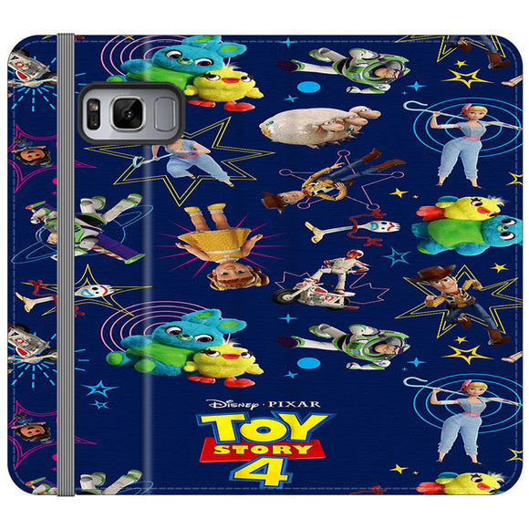 Toy Story 4 Doodle Blue Samsung Galaxy S8 Flip Case | Frostedcase