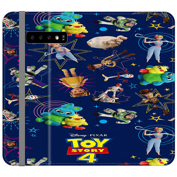 Toy Story 4 Doodle Blue Samsung Galaxy S10 Plus Flip Case | Frostedcase