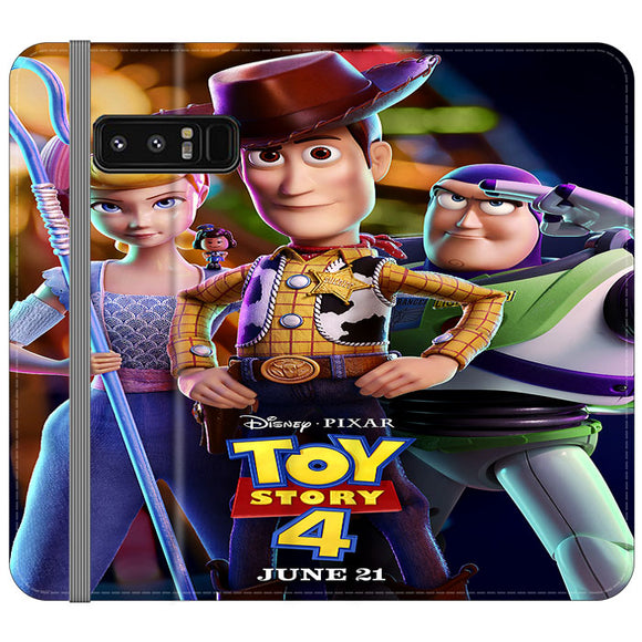 Toy Story 4 Poster Launching Samsung Galaxy Note 8 Flip Case | Frostedcase