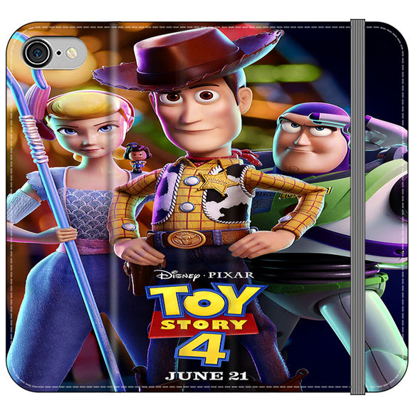 Toy Story 4 Poster Launching iPhone 8 Flip Case | Frostedcase