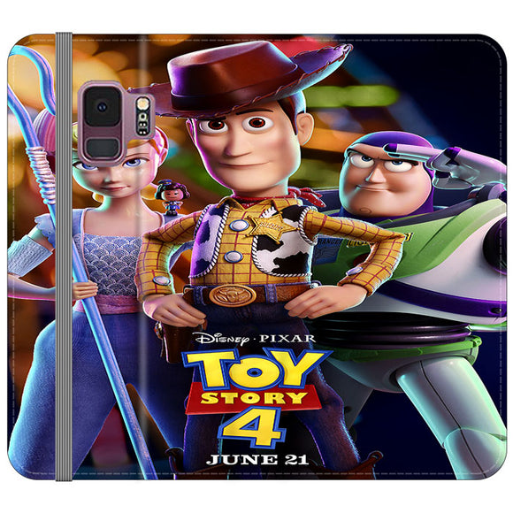 Toy Story 4 Poster Launching Samsung Galaxy S9 Flip Case | Frostedcase