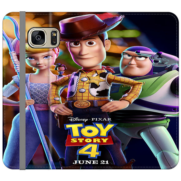 Toy Story 4 Poster Launching Samsung Galaxy S7 EDGE Flip Case | Frostedcase