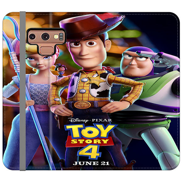 Toy Story 4 Poster Launching Samsung Galaxy Note 9 Flip Case | Frostedcase
