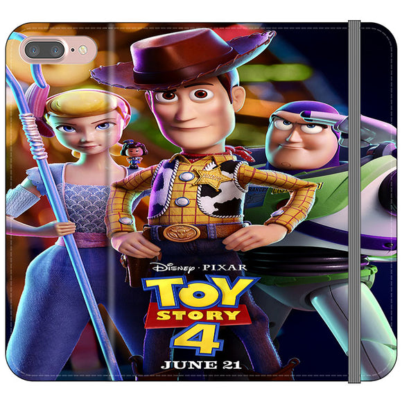 Toy Story 4 Poster Launching iPhone 8 Plus Flip Case | Frostedcase