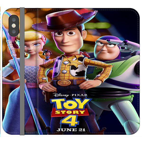Toy Story 4 Poster Launching iPhone XS Flip Case | Frostedcase