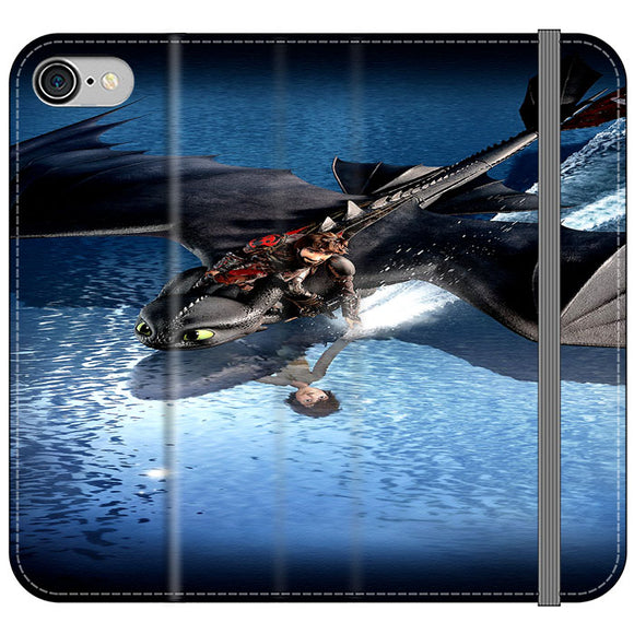 Train Your Dragon The Hidden World Mirror Water iPhone 8 Flip Case | Frostedcase