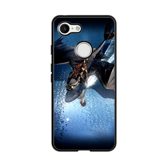 Train Your Dragon The Hidden World Mirror Water Google Pixel 3 Case | Frostedcase
