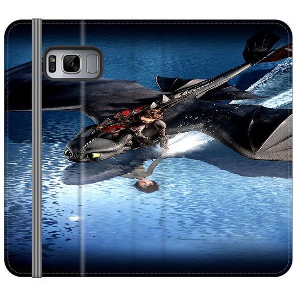 Train Your Dragon The Hidden World Mirror Water Samsung Galaxy S8 Flip Case | Frostedcase