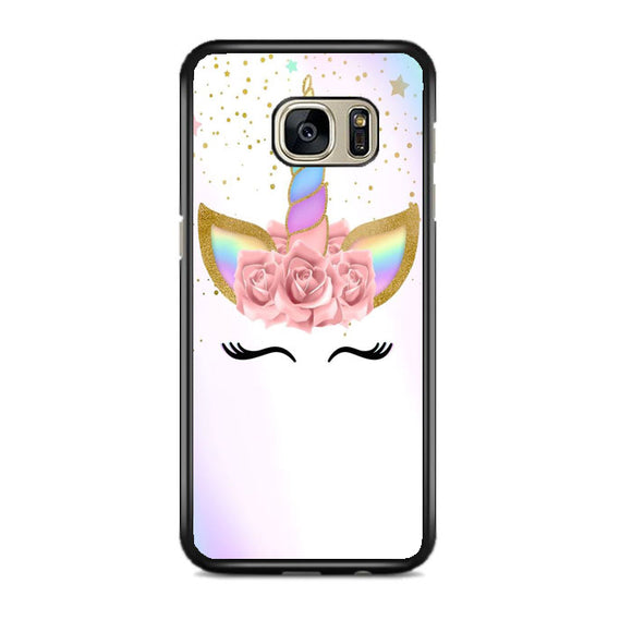 Unicorn Clip Art Samsung Galaxy S7 EDGE Case | Frostedcase