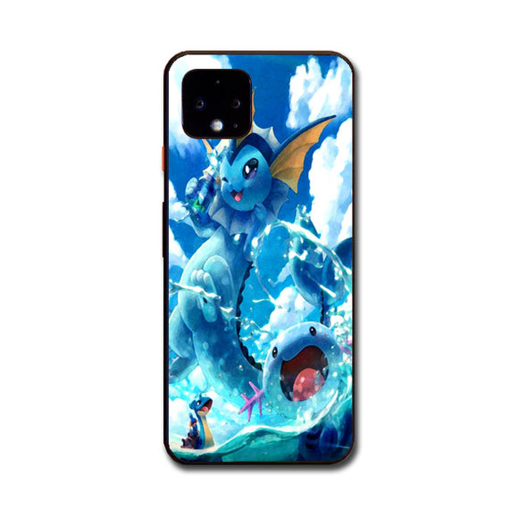 Vaporeon And Friends Pokemon Water Google Pixel 4 XL Case | Frostedcase
