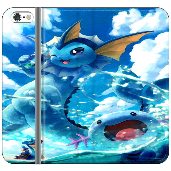 Vaporeon And Friends Pokemon Water iPhone 6 Plus|6S Plus Flip Case | Frostedcase