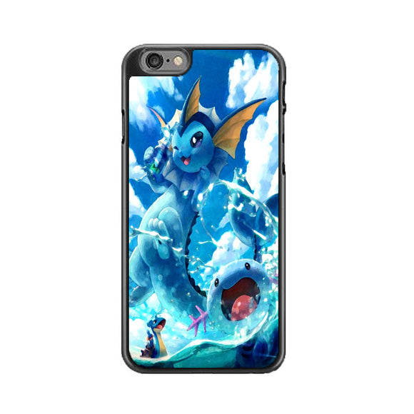 Vaporeon And Friends Pokemon Water iPhone 6|6S Case | Frostedcase