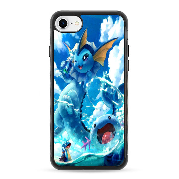 Vaporeon And Friends Pokemon Water iPhone 8 Case | Frostedcase