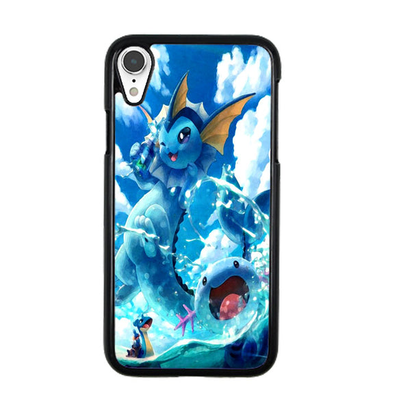 Vaporeon And Friends Pokemon Water iPhone XR Case | Frostedcase