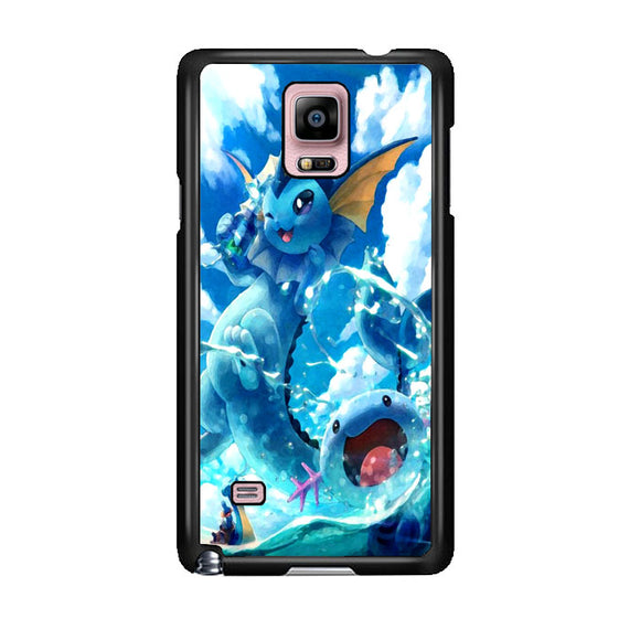 Vaporeon And Friends Pokemon Water Samsung Galaxy Note 4 Case | Frostedcase