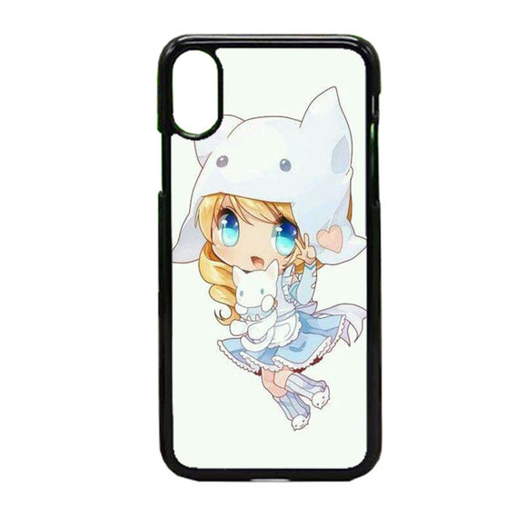 Versi Gadis Anime iPhone X Case | Frostedcase