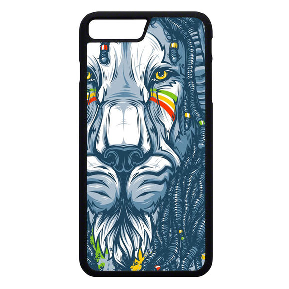 Warrior Lion Rasta iPhone 7 Plus Case | Frostedcase