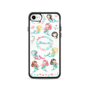 Watercolor Baby Mermaid iPhone 8 Case | Frostedcase