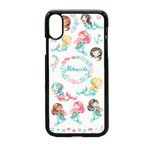 Watercolor Baby Mermaid iPhone X Case | Frostedcase