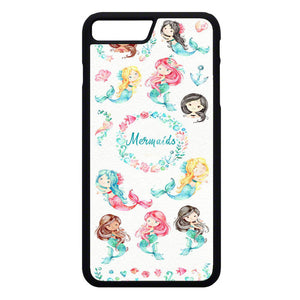 Watercolor Baby Mermaid iPhone 7 Plus Case | Frostedcase