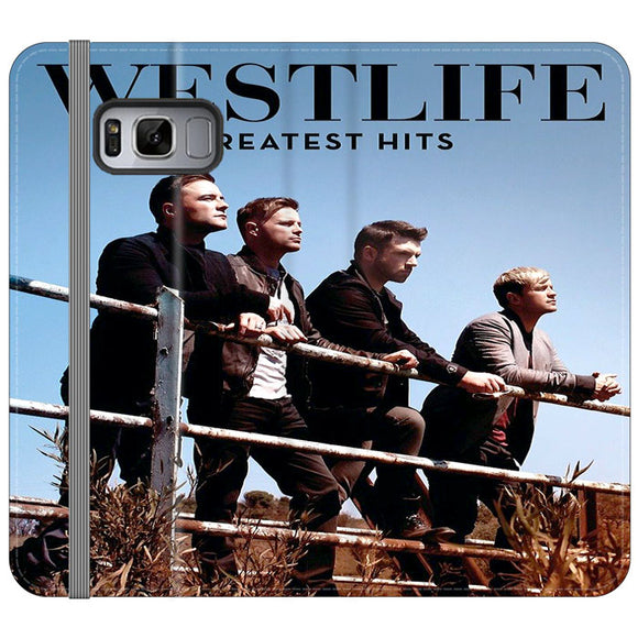 Westlife Greatest Hits 2011 Samsung Galaxy S8 Flip Case | Frostedcase