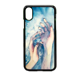White Nights Watercolor Travel iPhone X Case | Frostedcase
