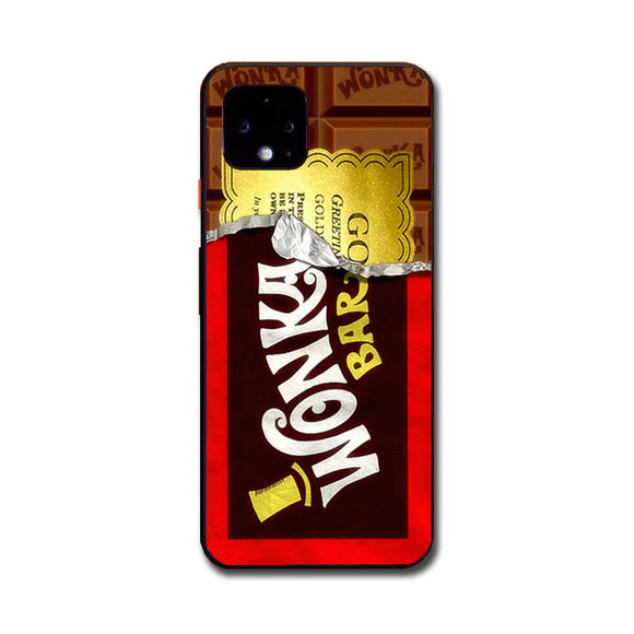 Willy Wonka Chocolate Golden Ticket Google Pixel 4 Case | Frostedcase