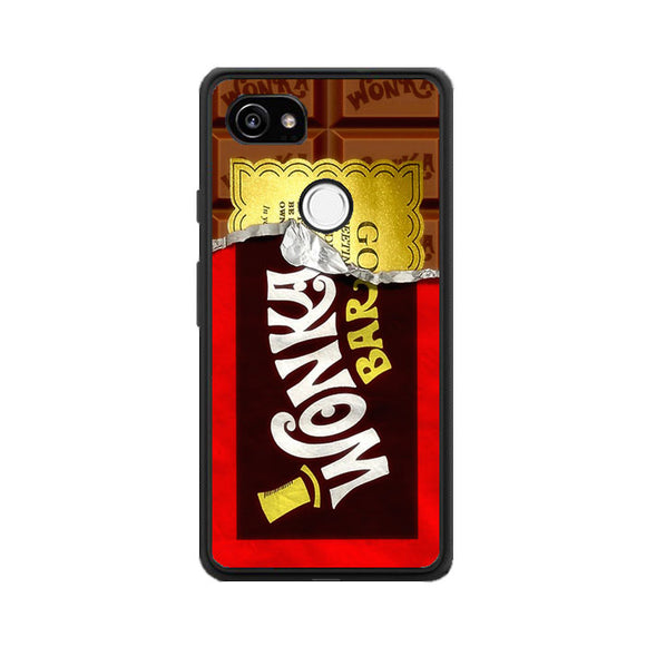 Willy Wonka Chocolate Golden Ticket Google Pixel 2 XL Case | Frostedcase