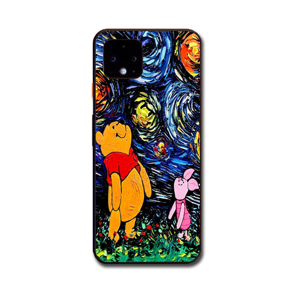 Winnie The Pooh Paint Art Poster Google Pixel 4 Case | Frostedcase
