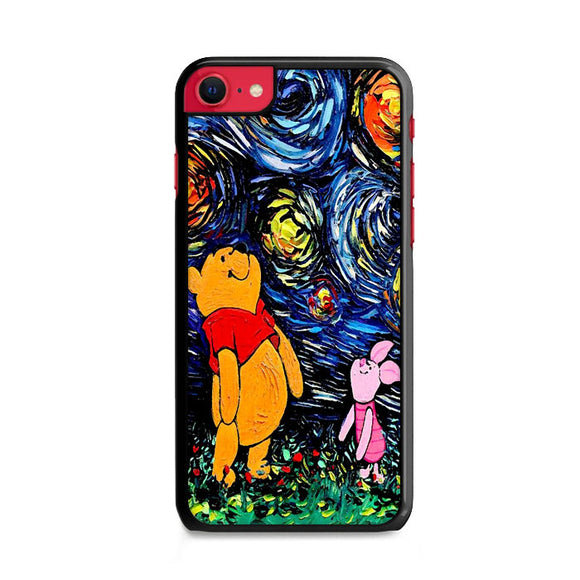 Winnie The Pooh Paint Art Poster iPhone SE Case | Frostedcase