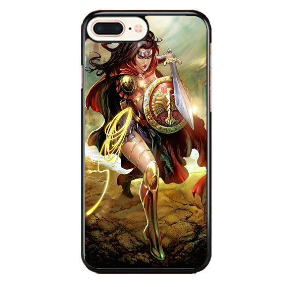 Wonder Woman Digital Art iPhone 8 Plus Case | Frostedcase