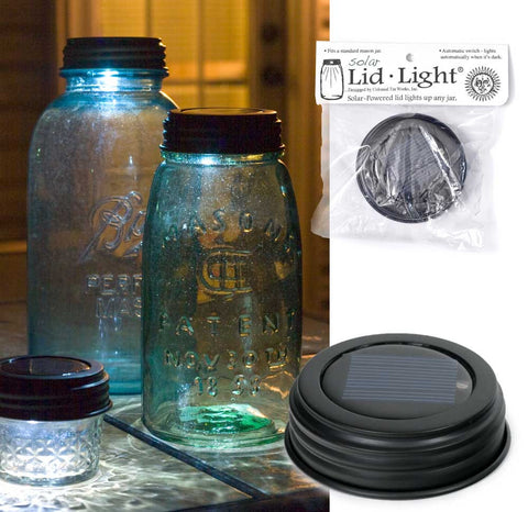 Solar Mason Jar Lid Light Set of TWO