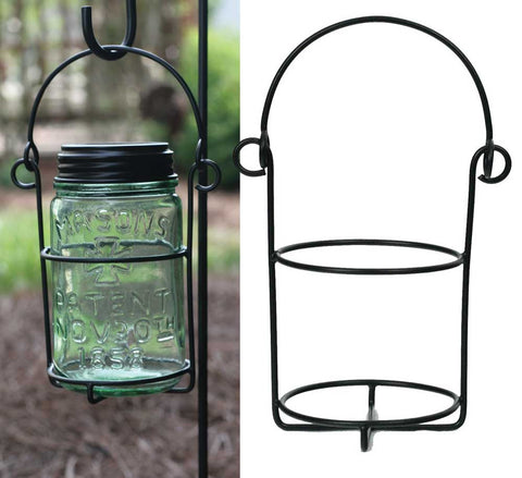 Mason Jar Hanging Caddy Pint Set of 2