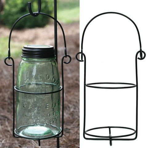 Mason Jar Hanging Caddy Quart Set of 2
