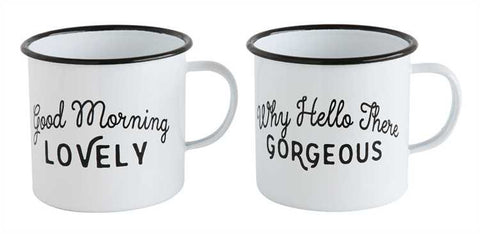 Set of 2 Enameled Mugs