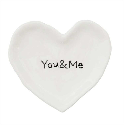 Heart Shaped You and Me Ring Dish
