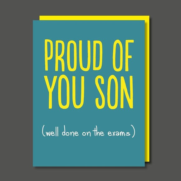 Proud Of You Son Exams Greeting Card