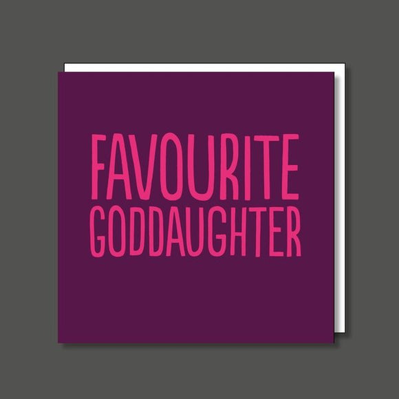 Favourite Goddaughter Birthday Card
