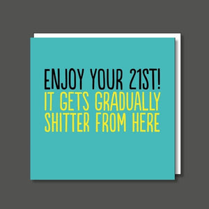 Enjoy Your 21st Birthday Card