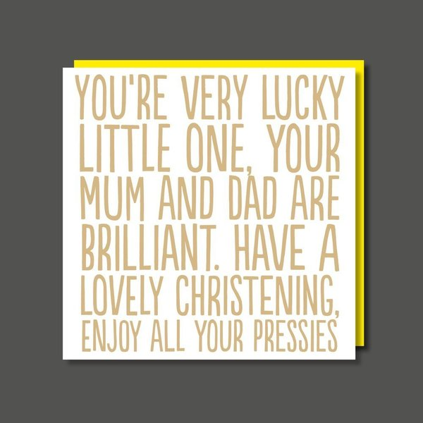 Have A Lovely Christening Greeting Card