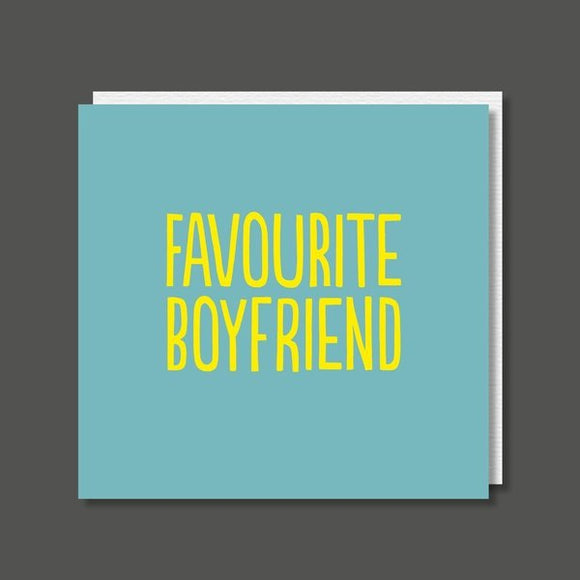 Favourite Boyfriend Birthday / Valentine's Card