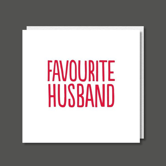 Favourite Husband Birthday / Valentine's / Anniversary Card