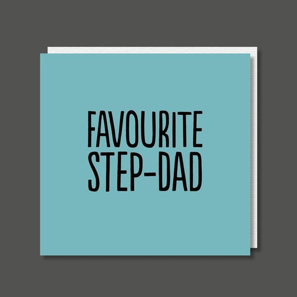 Favourite Step-Dad Birthday / Father's Day Card