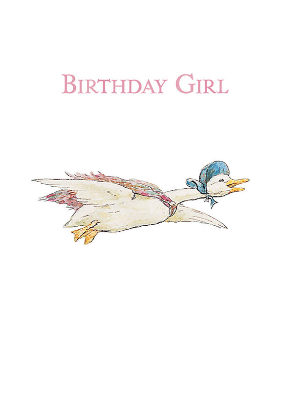 Birthday Girl Jemima Puddle Duck Beatrix Potter Birthday Card