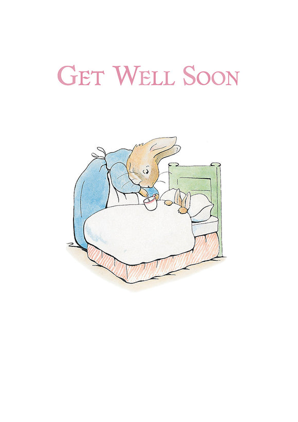 Get Well Soon Peter Rabbit Beatrix Potter Greeting Card