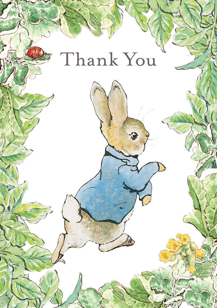 Thank You Peter Rabbit Beatrix Potter Greeting Card