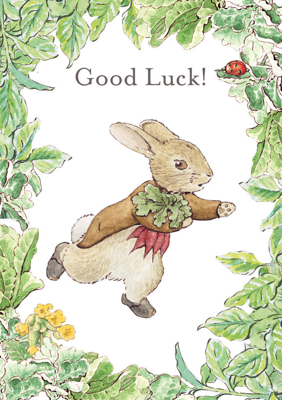 Good Luck Benjamin Bunny Beatrix Potter Greeting Card