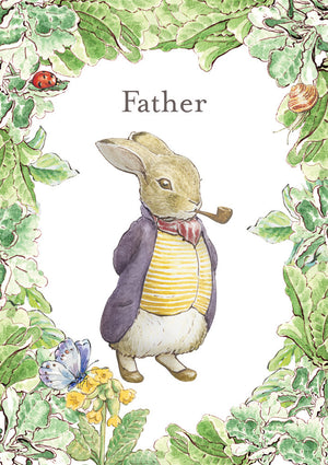 Father Peter Rabbit Beatrix Potter Birthday / Father's Day Card